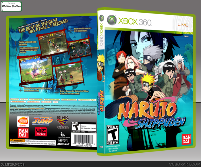 Naruto Shippuden Xbox 360 Box Art Cover by MF29