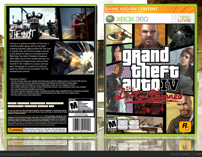 Gta 6 Cover: Grand Theft Auto IV: The Lost And Damned Xbox 360 Box Art