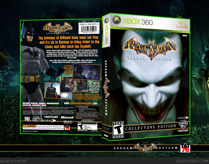 Batman Arkham Asylum Collectors Edition Xbox 360 Box Art