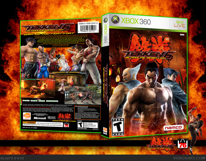 Tekken 6 Bloodline Rebellion Xbox 360 Box Art Cover By Tat76