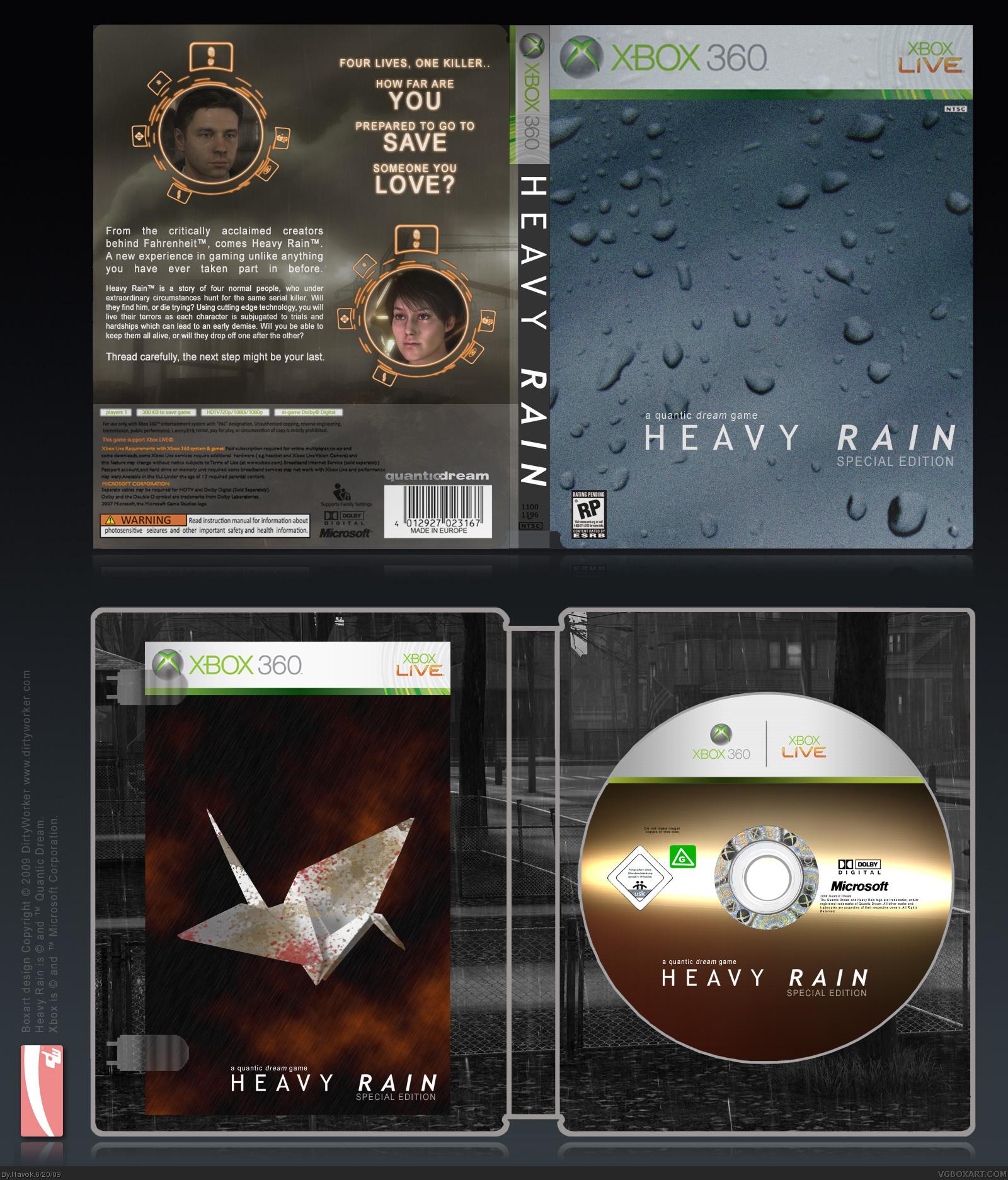 heavy rain xbox 360 box art cover by havok