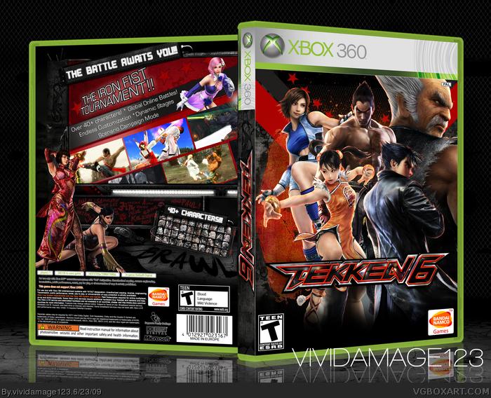 Tekken 6 Xbox 360 Box Art Cover By Vividamage123