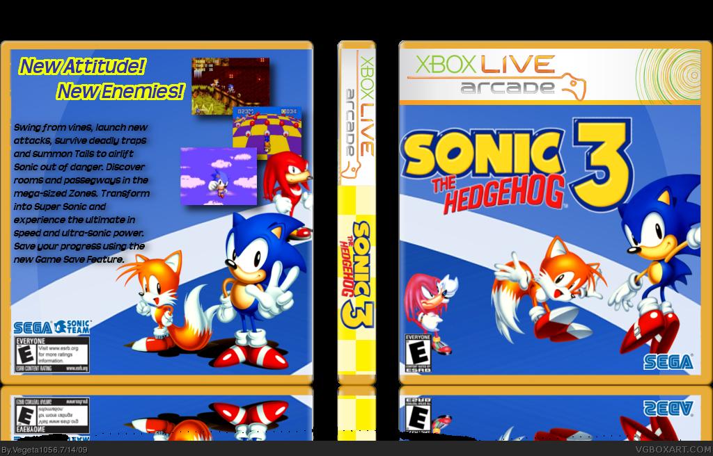 Sonic The Hedgehog 3 Xbox 360 Box Art Cover By Vegeta1056