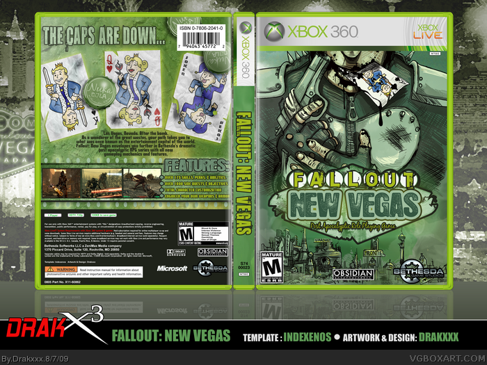 photograph about Game Covers Printable identified as Fallout: Refreshing Vegas Xbox 360 Box Artwork Go over by way of Drakxxx