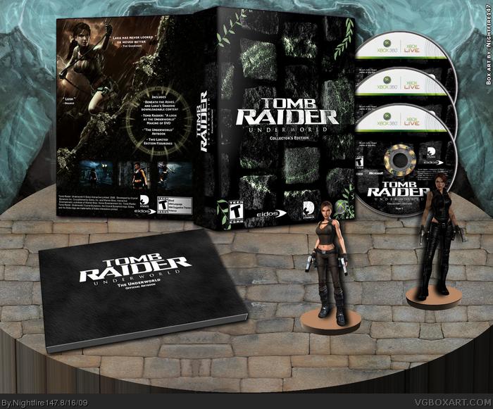 Tomb Raider: Underworld Collector's Edition Xbox 360 Box