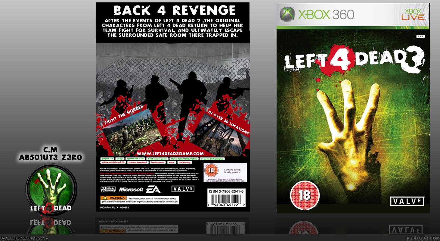 Left 4 Dead 3 Xbox 360 Box Art Cover by AB501UT3 Z3R0