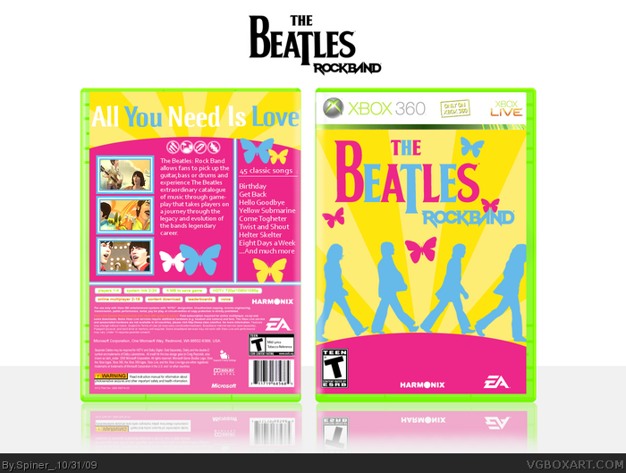 The Beatles: Rock Band Xbox 360 Box Art Cover by Spiner_