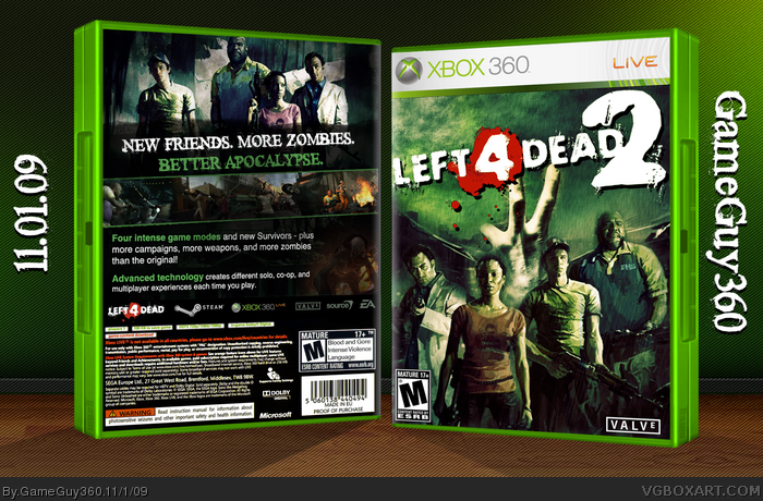 Left 4 Dead 2 Xbox 360 Box Art Cover by GameGuy360