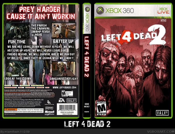 Left 4 Dead 2 Xbox 360 Box Art Cover by miamiflash