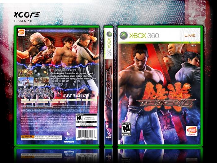 Tekken 6 Xbox 360 Box Art Cover By Xcore