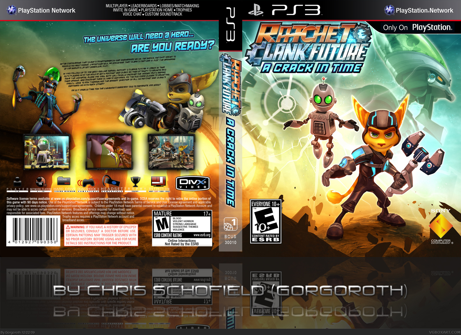 Ratchet and Clank Future: A Crack In Time Xbox 360 Box Art