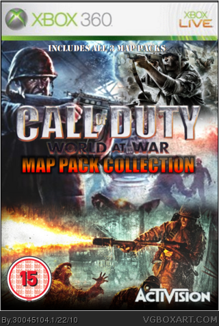 Call of Duty World at War: Map Pack Collection Xbox 360 Box Art ...