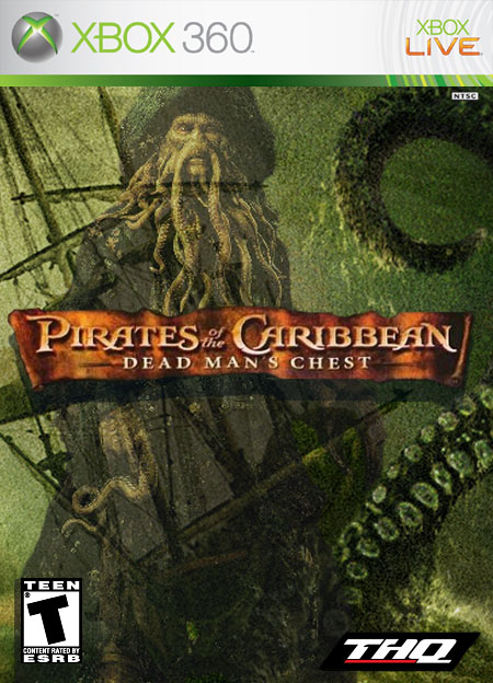 Pirates Of The Carribean Dead Man's Chest Xbox 360 Box Art Cover by