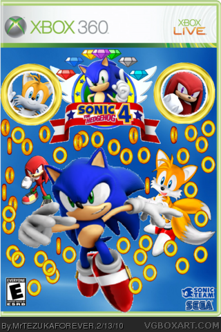 Sonic The Hedgehog 4 Xbox 360 Box Art Cover By Mrtezukaforever