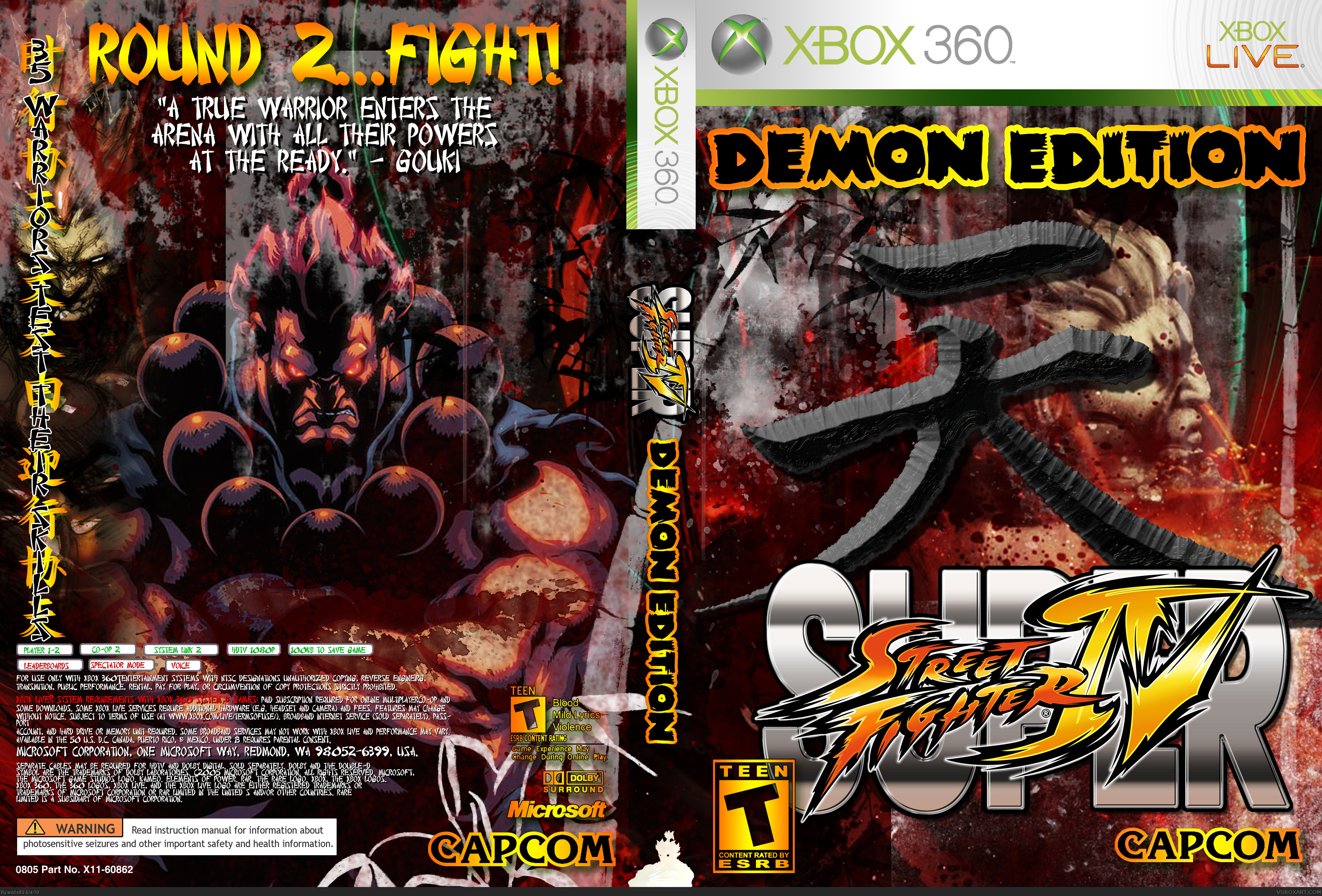 Super Street Fighter Iv Xbox 360 Box Art Cover By Walls83