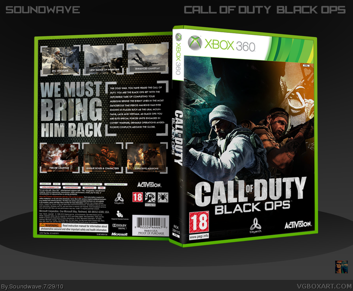 Genesis 38 8 >> Call of Duty: Black Ops Xbox 360 Box Art Cover by Soundwave