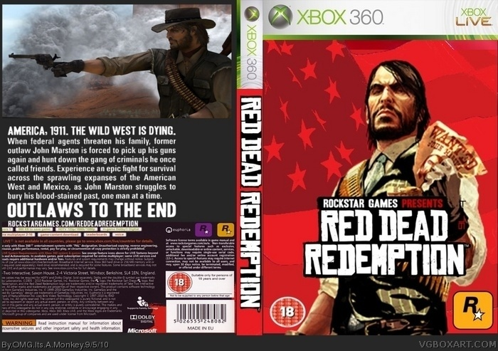 Red Dead Redemption Xbox 360 Box Art Cover by OMG Its A Monkey