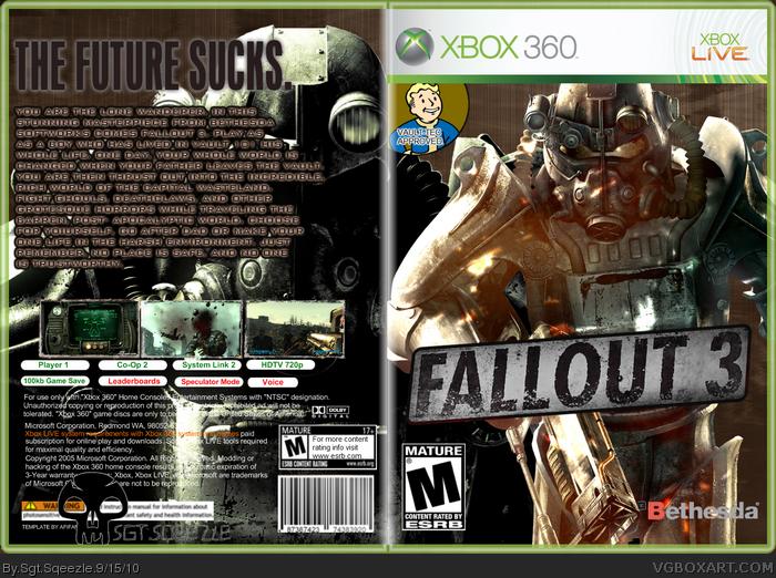photo about Printable Game Covers titled Fallout 3 Xbox 360 Box Artwork Address via Sgt.Sqeezle