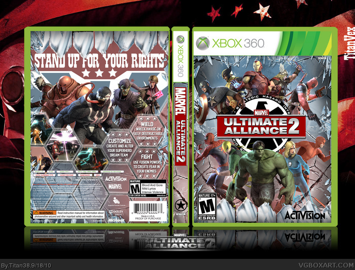 Marvel Ultimate Alliance 2 Xbox 360 Box Art Cover by Titan38