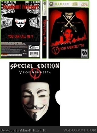 V for Vendetta box art cover