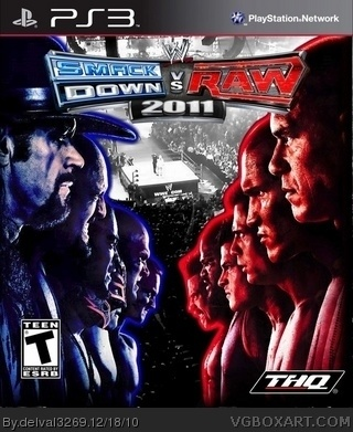 WWE Smackdown Vs Raw 2011 Xbox 360 Box Art Cover by delval3269