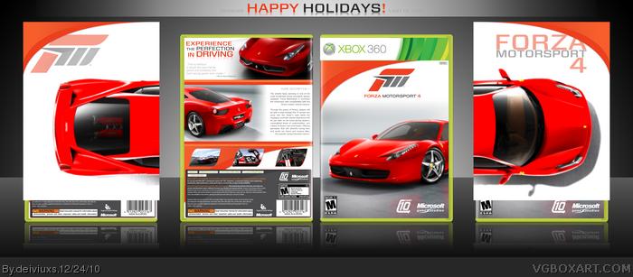 Forza Motorsport 4 Xbox 360 Box Art Cover by deiviuxs