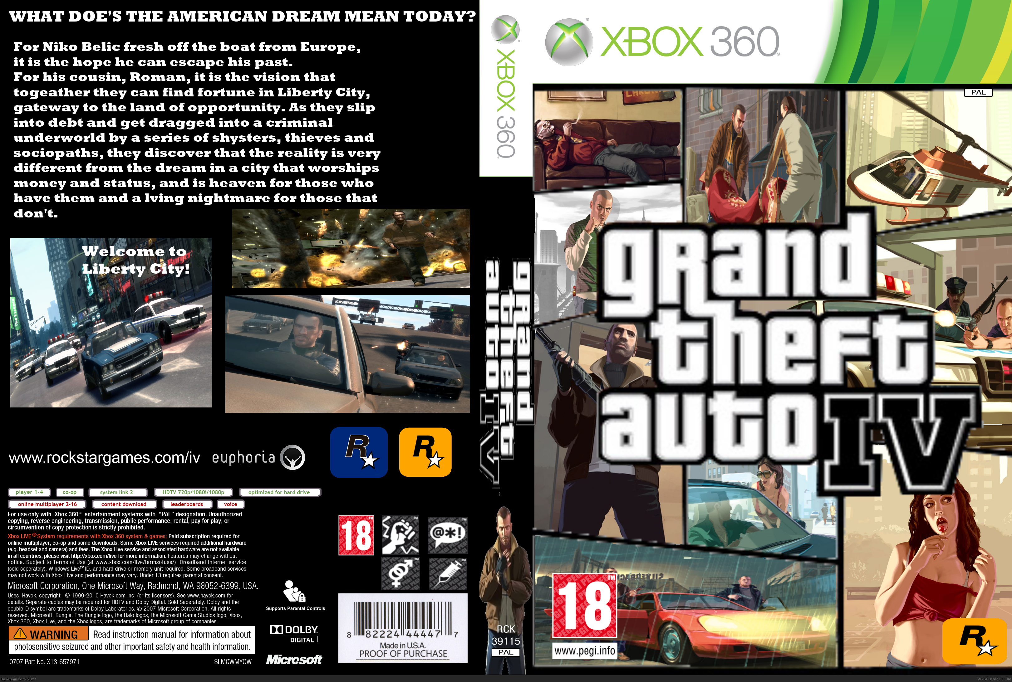 grand theft auto 4 xbox 360 box art cover by terminator. Black Bedroom Furniture Sets. Home Design Ideas
