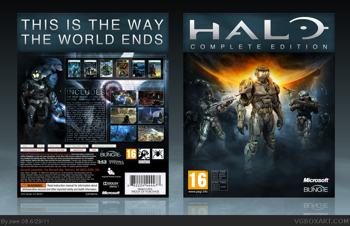 Genesis 38 8 >> Halo: Complete Edition Xbox 360 Box Art Cover by swe 08