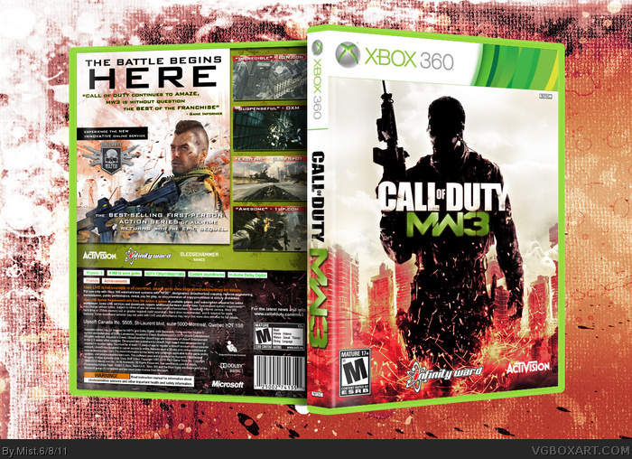 Call Of Duty Modern Warfare 3 Xbox 360 Box Art Cover By Mist