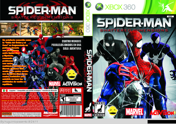 Spider-Man: Shattered Dimensions Xbox 360 Box Art Cover by ...