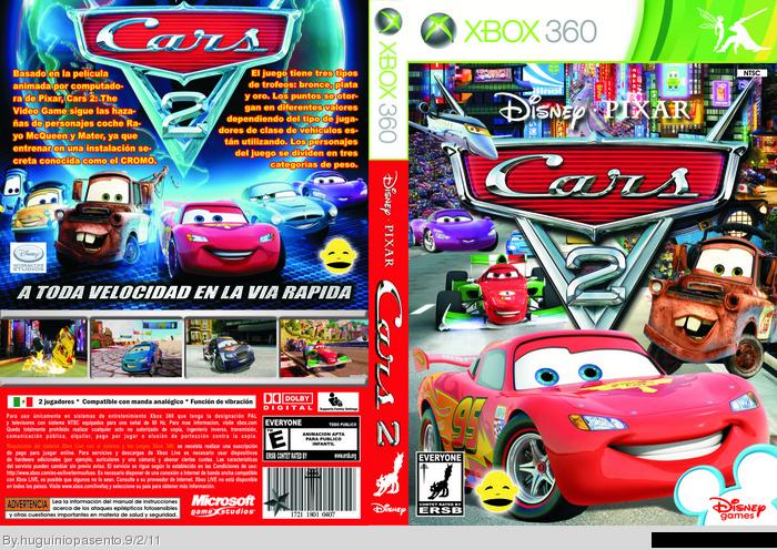Cars 2 Xbox 360 Box Art Cover by huguiniopasento