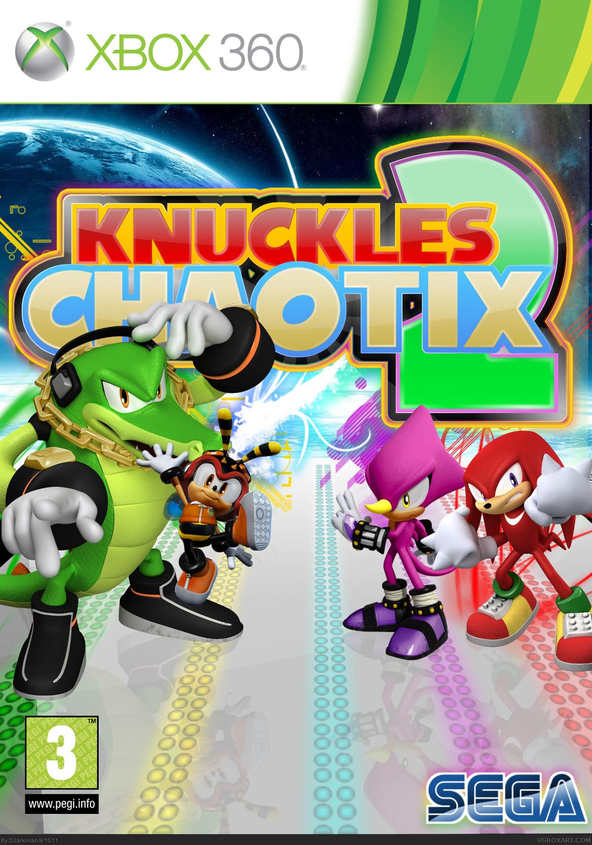 Knuckles Chaotix Box Art