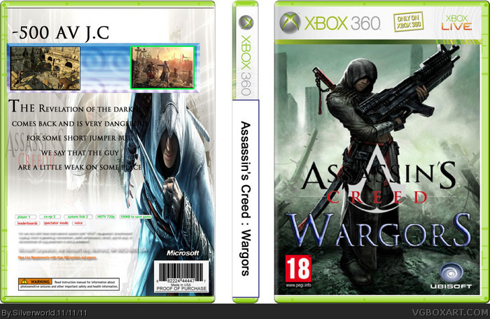 assassins creed wargors xbox 360 box art cover by