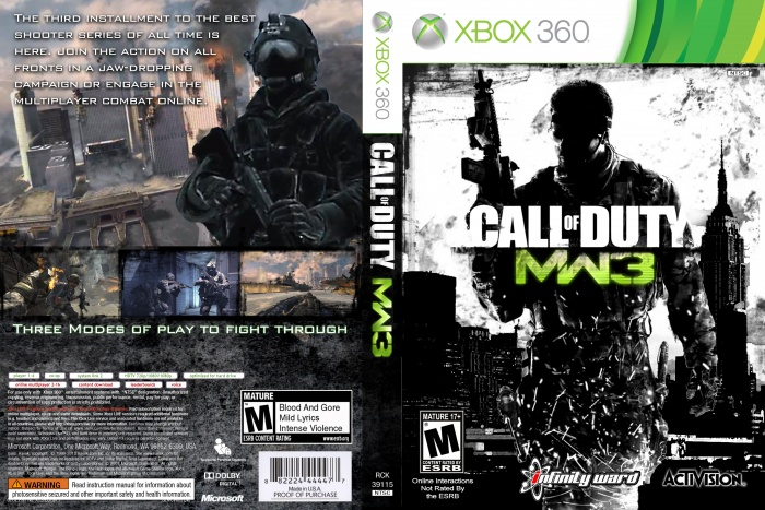Call Of Duty Modern Warfare 3 Xbox 360 Box Art Cover By Spitzman93