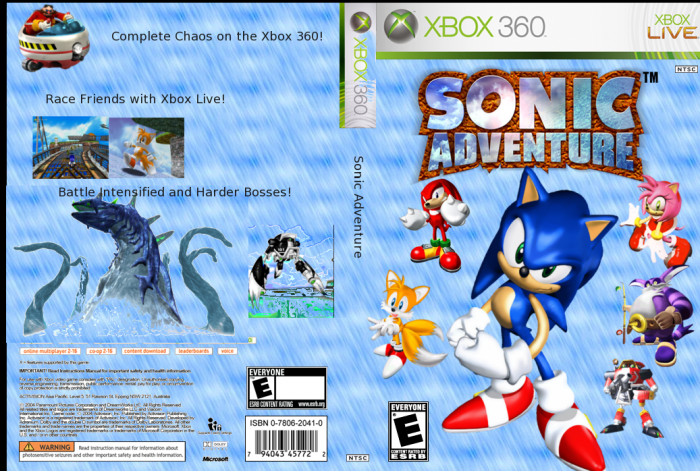 Sonic Adventure Xbox 360 Box Art Cover By Nickster6490
