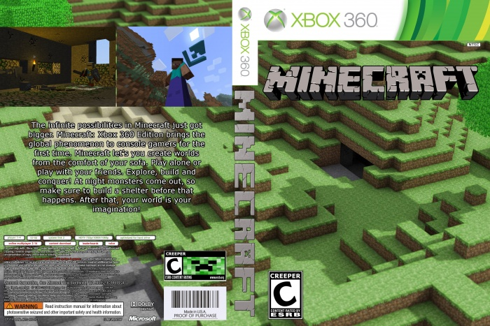 Minecraft Xbox 360 Box Art Cover by Mikeyplater