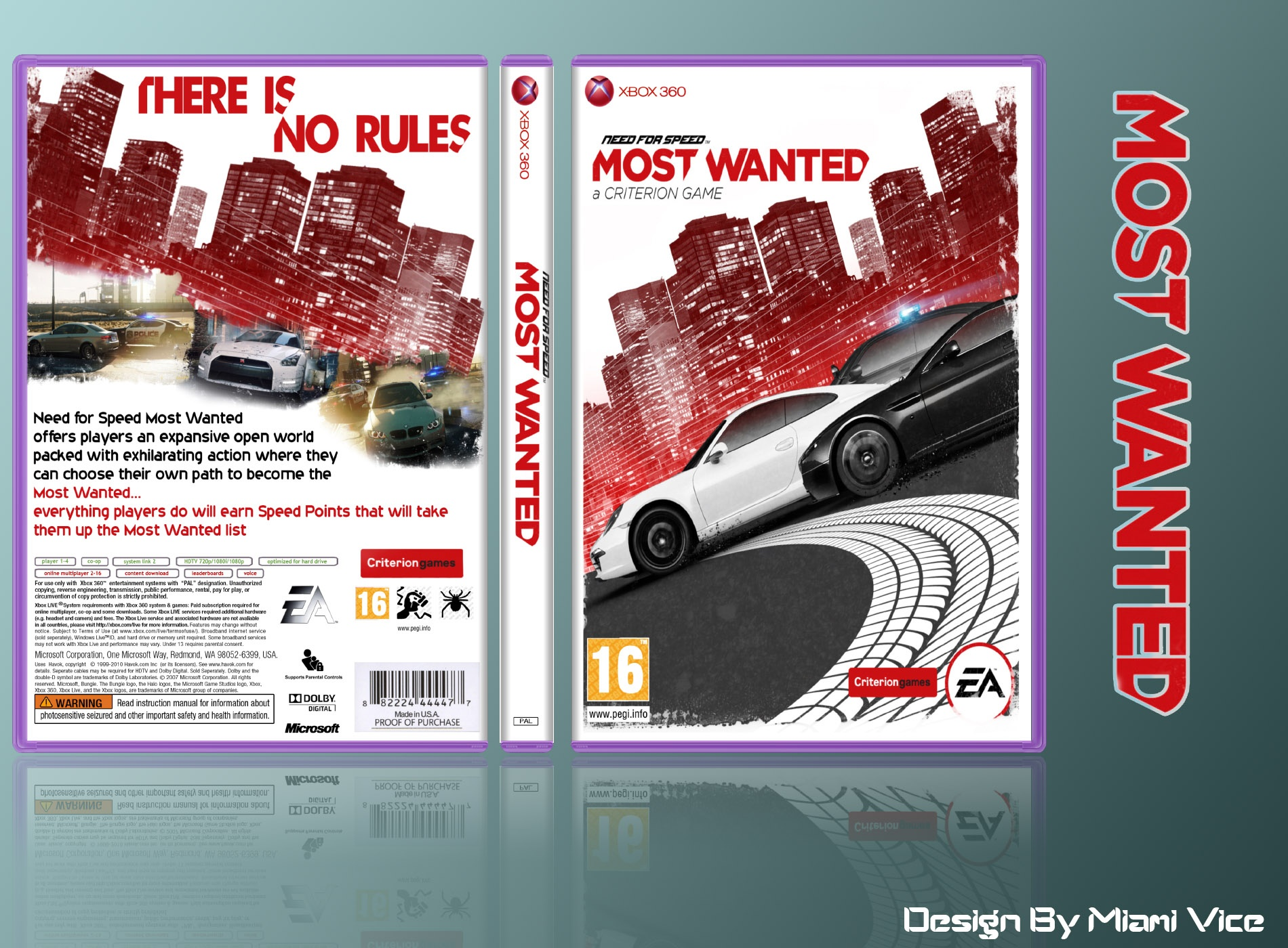 Need For Speed Most Wanted Xbox 360 Box Art Cover By Miami Vice