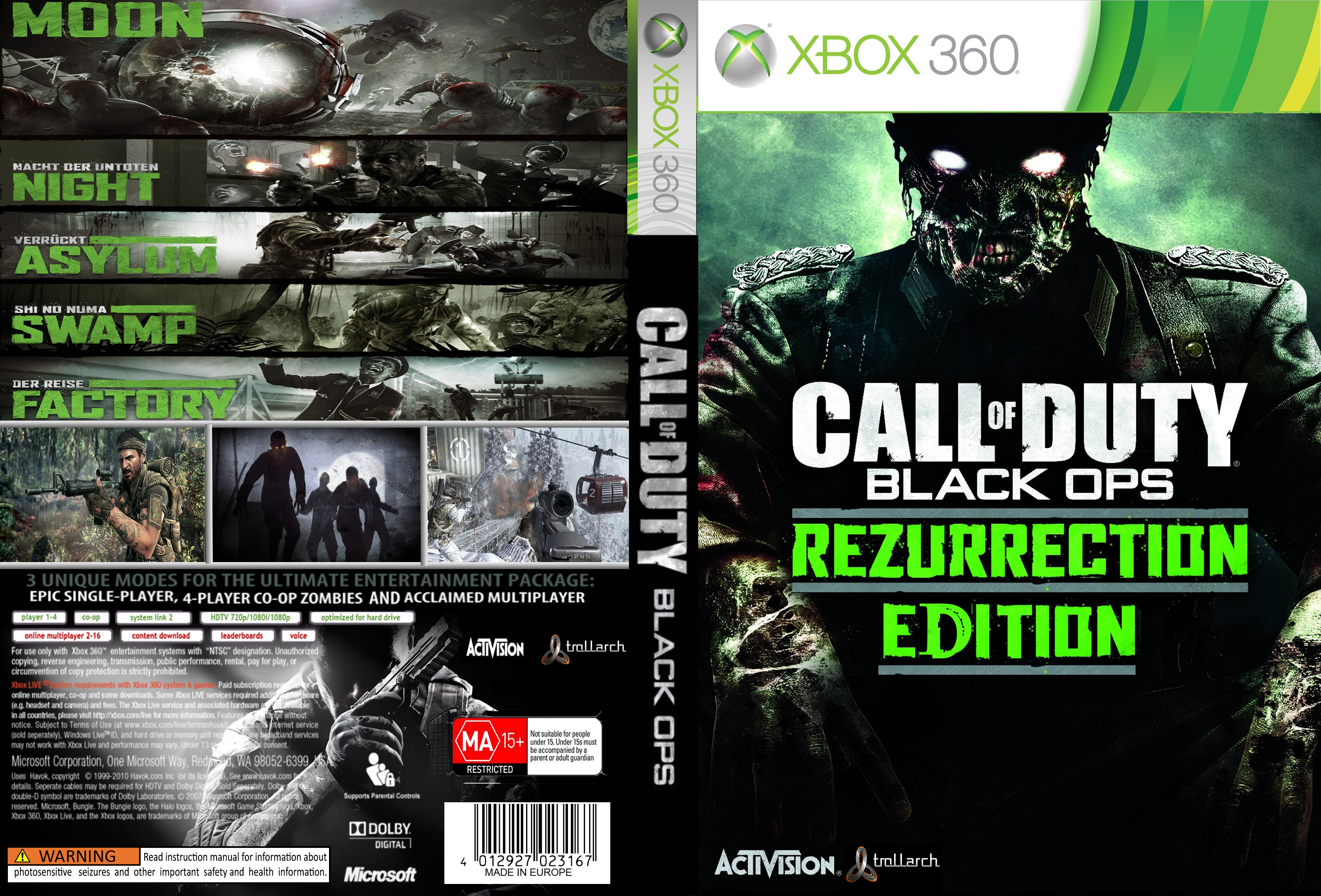 call of duty black ops xbox 360 box art cover by nyan. Black Bedroom Furniture Sets. Home Design Ideas