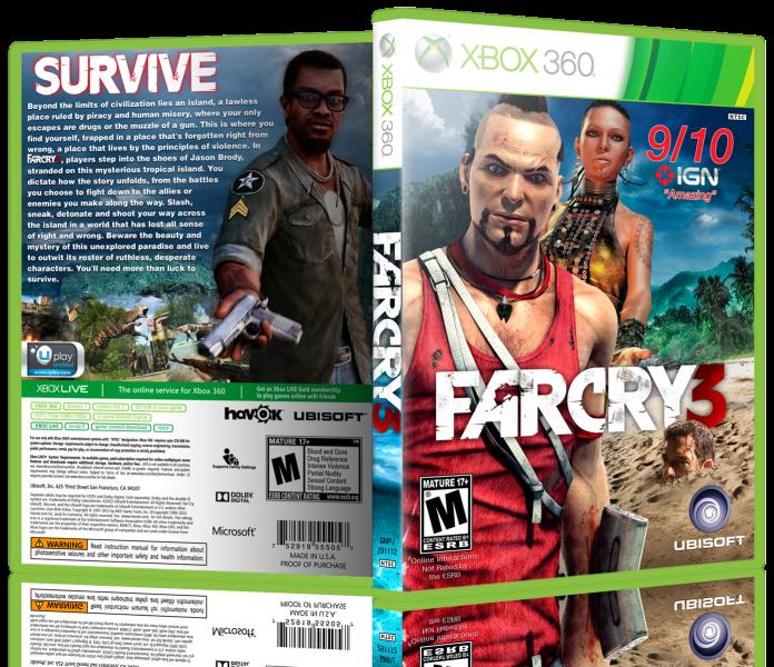 Far Cry 3 Xbox 360 Box Art Cover by J0rd4n