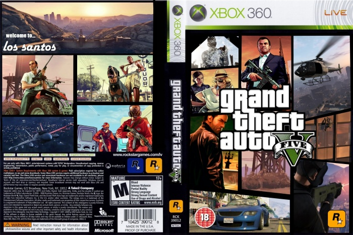 Gta 6 Cover: Grand Theft Auto V Xbox 360 Box Art Cover By TomB