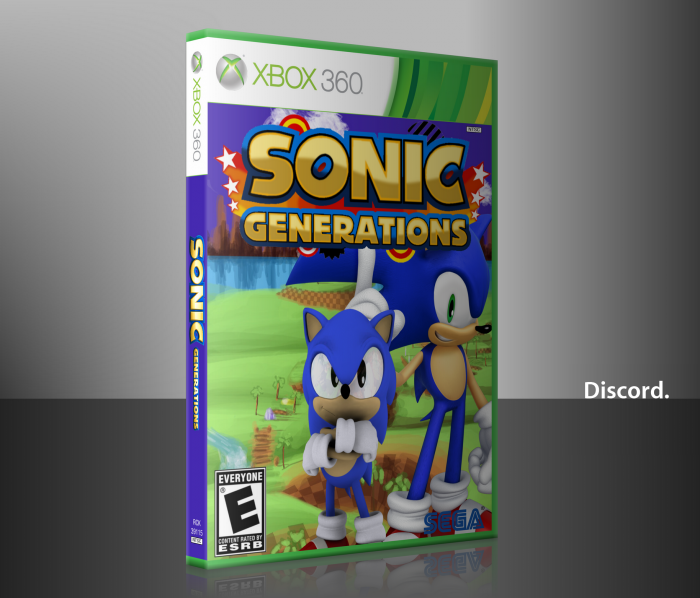 Sonic Generations Xbox 360 Box Art Cover by DiscordThePony