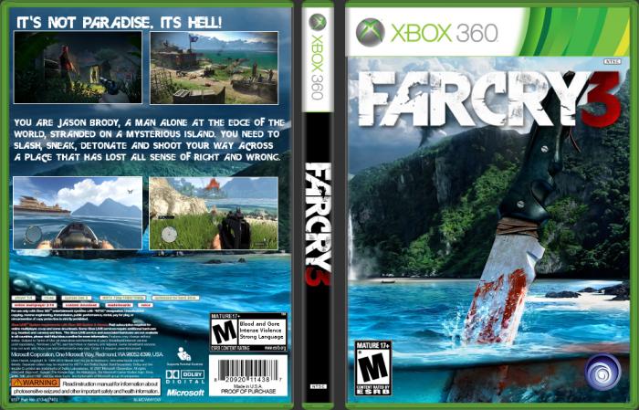 Far Cry 3 Xbox 360 Box Art Cover by Carlj1497
