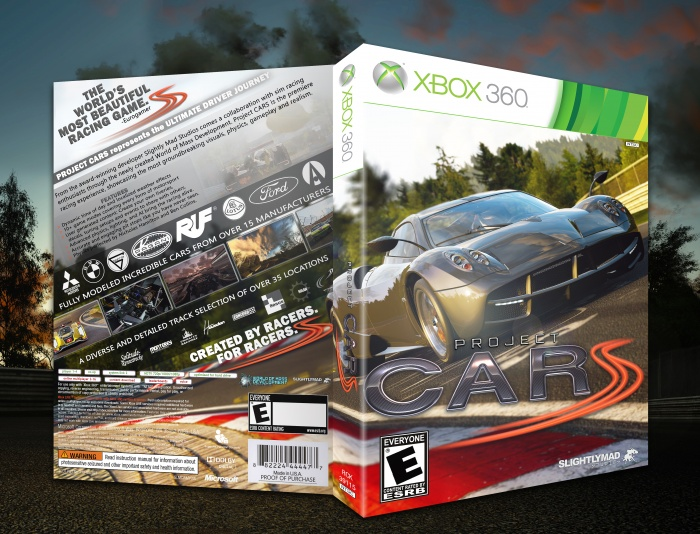 project cars xbox 360 box art cover by spiderpig24. Black Bedroom Furniture Sets. Home Design Ideas