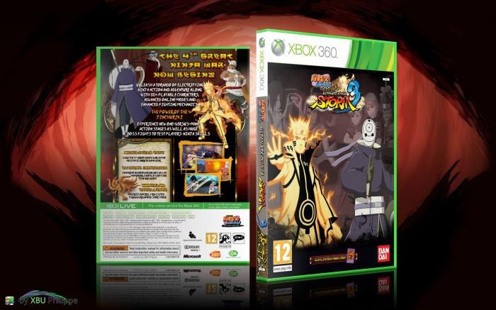 Naruto Shippuden Ultimate Ninja Storm 3 Xbox 360 Box Art