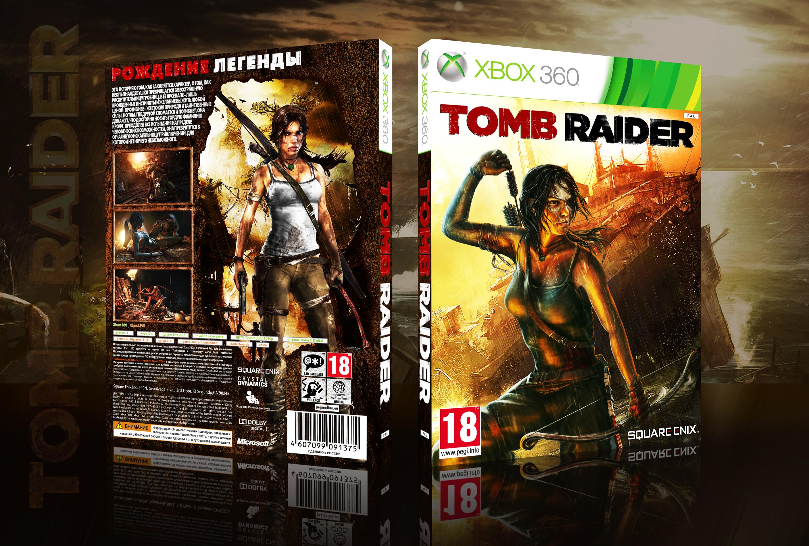 Tomb Raider 2013 Xbox 360 Box Art Cover by fergana16