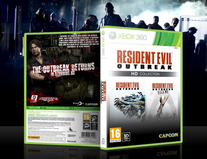 Resident Evil Outbreak: HD Collection Xbox 360 Box Art ...