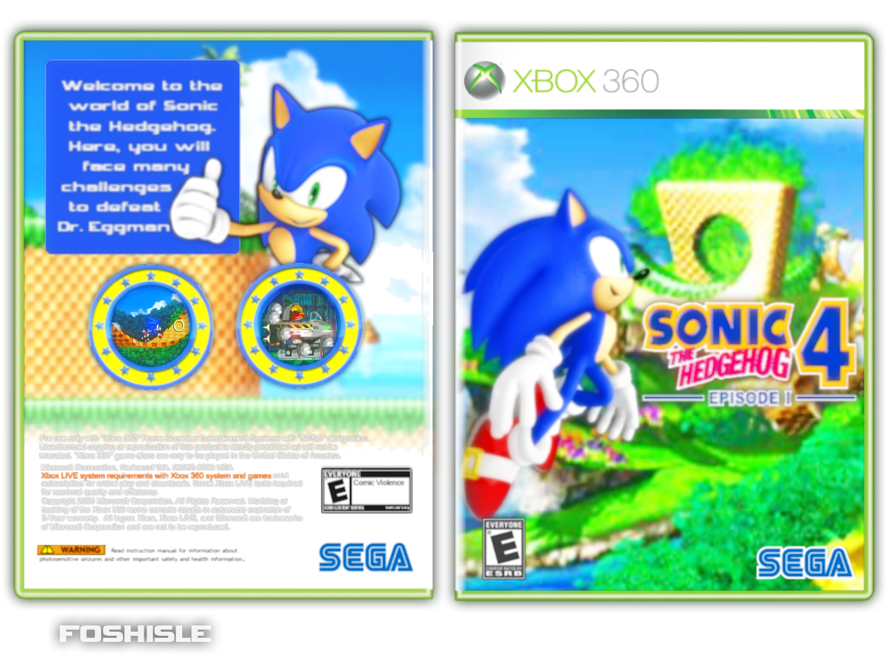 Sonic The Hedgehog 4 Episode 1 Xbox 360 Box Art Cover By Foshisle