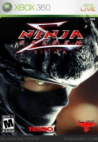 Ninja Gaiden Sigma Xbox 360 Box Art Cover by miami-boy Xbox 360 Game Cover Template Print