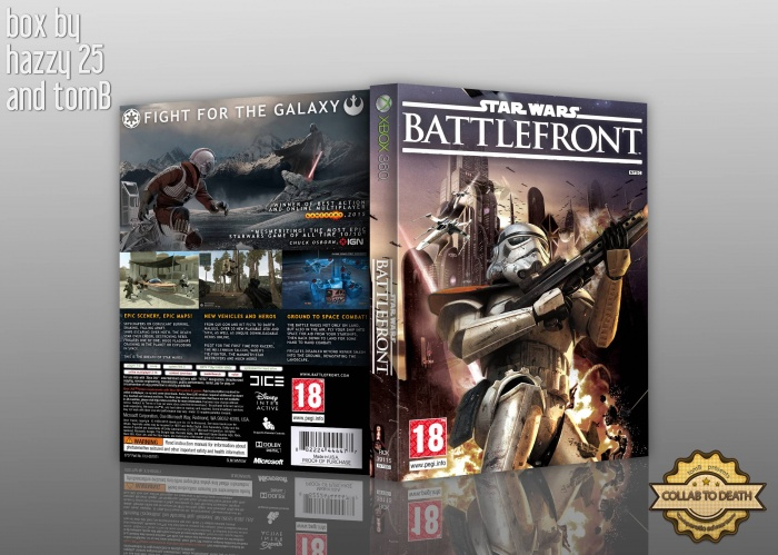star wars battlefront iii xbox 360 box art cover by hazzy25. Black Bedroom Furniture Sets. Home Design Ideas