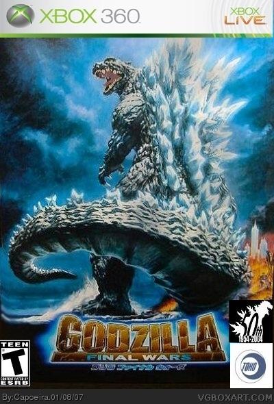 Godzilla Final Wars Xbox 360 Box Art Cover By Capoeira